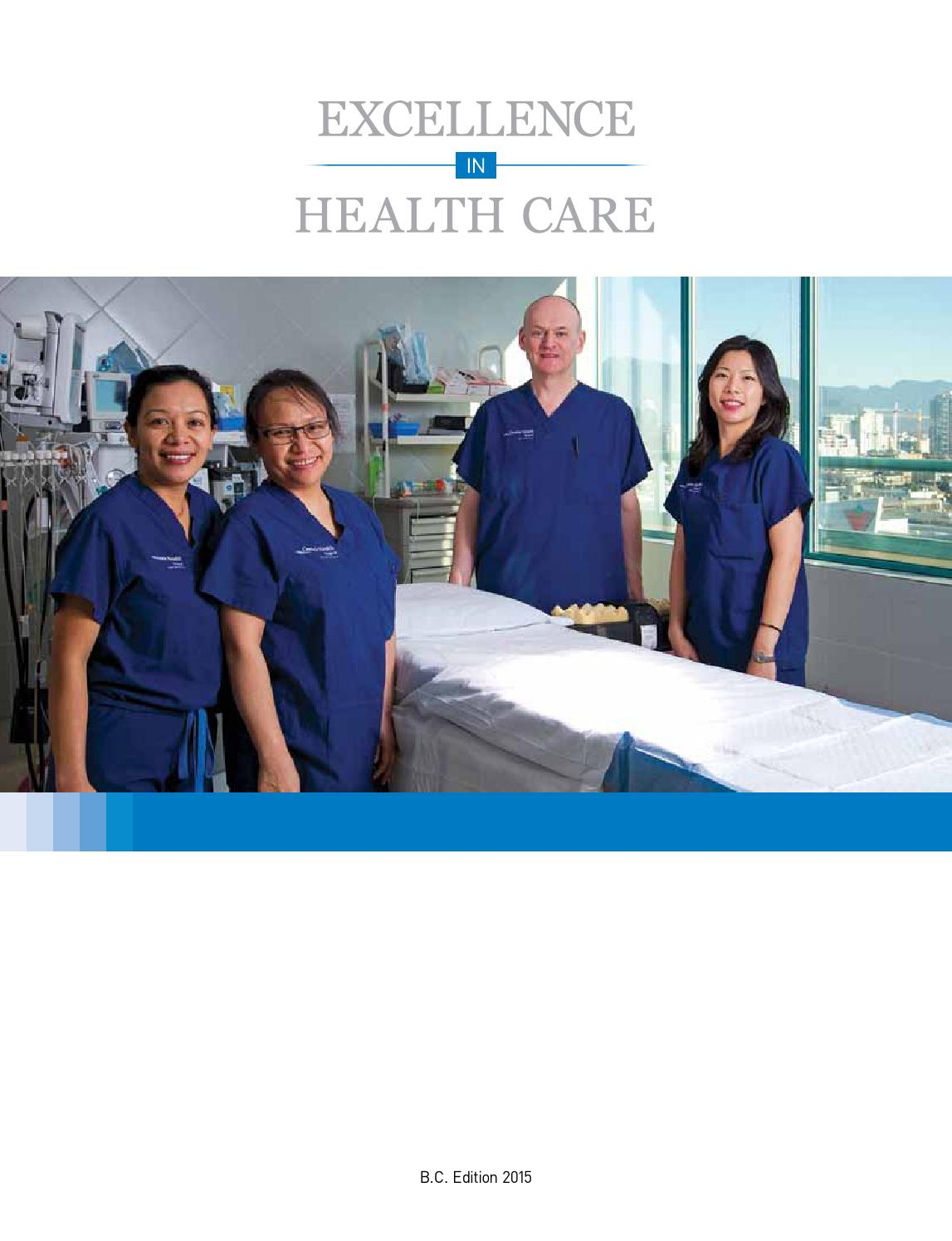 Excellence in Healthcare Cover